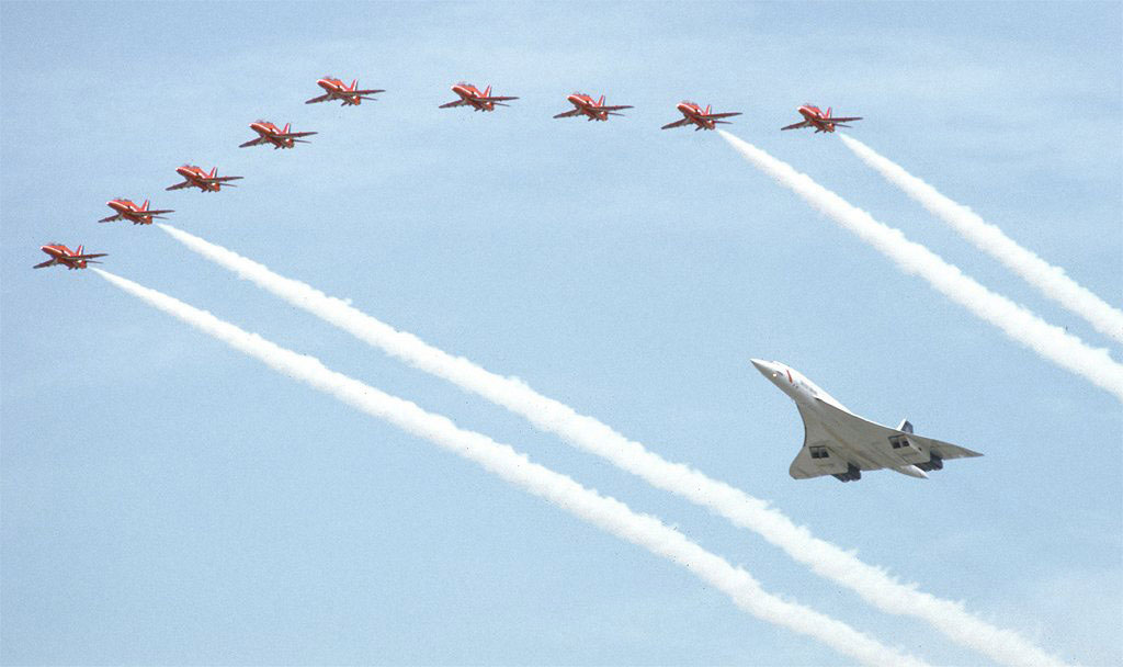 They flew in formation on the both Saturday and Sunday of the Air Tattoo